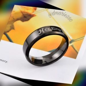 "Other - One left 🎉HP🎉"" Her King ' Stainless Steel ring"